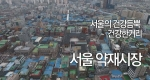 서울의 건강듬뿍 건강한거리!! 서울 약재시장!!