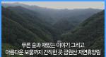 푸른 숲과 재밌는 이야기 그리고 아름다운 보물까지 간직한 곳 금원산 자연휴양림